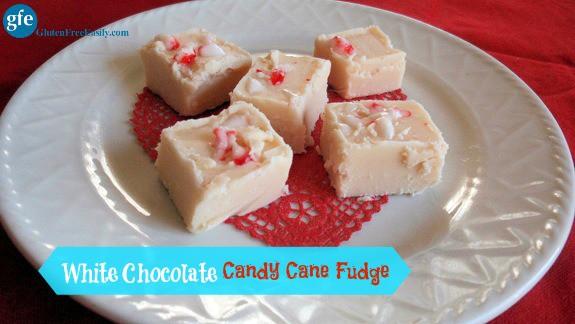 Gluten-Free White Chocolate Candy Cane Fudge Gluten Free Easily
