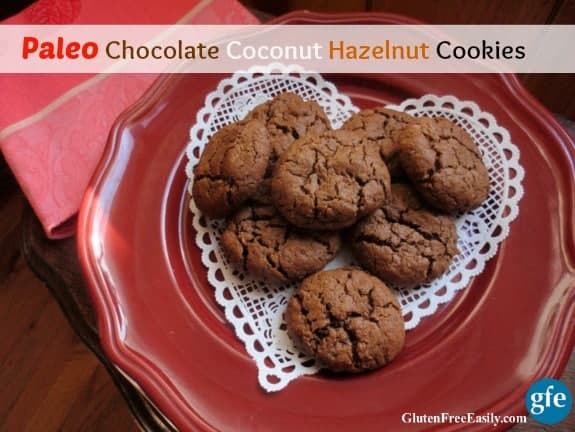 The ever appealing combination of chocolate and hazelnut with the sweet chewiness of coconut in one magical cookie! [from GlutenFreeEasily.com]