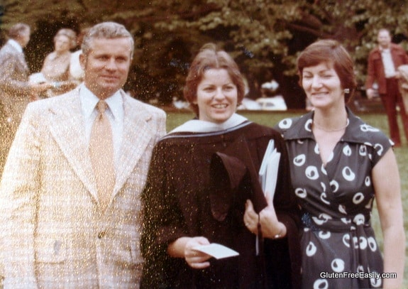 Dad, Me, and Mom at My College Graduation