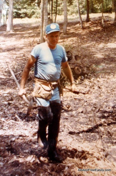 Dad Tool Belt On and Working