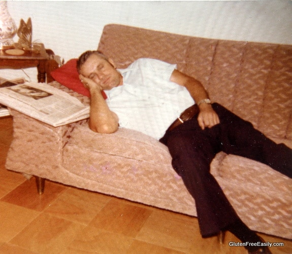 Dad Napping After Dinner