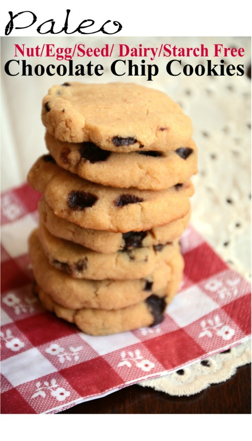 Gluten-Free AIP Chocolate Chip Cookies Pure and Simple Recipes