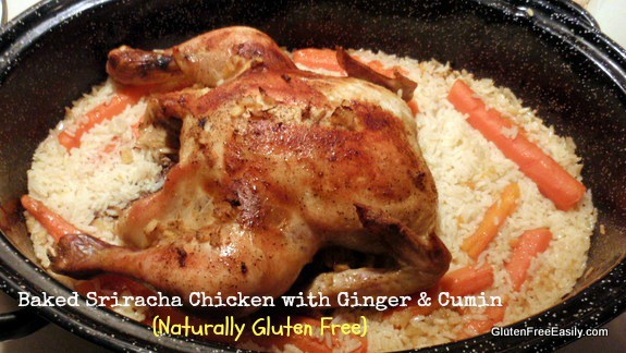 Baked Sriracha Ginger Cumin Chicken Gluten Free Easily
