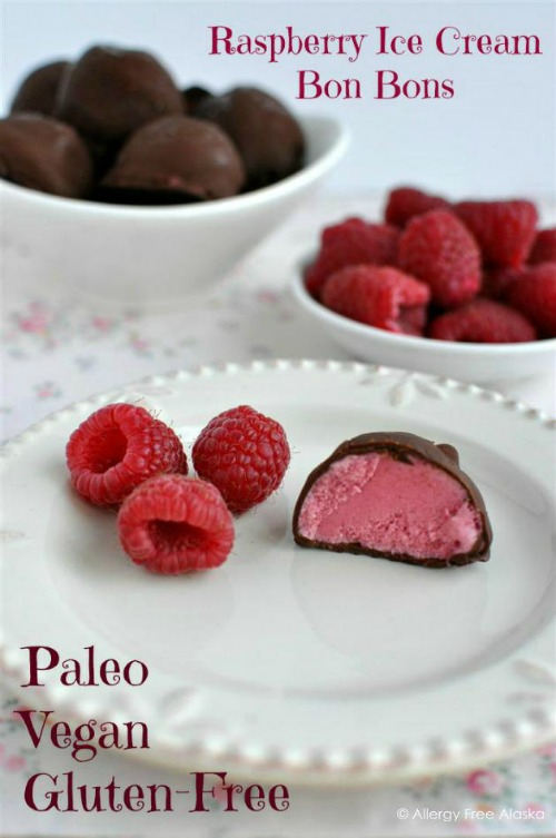 Gluten-Free Chocolate-Covered Raspberry Ice Cream Bon Bons Allergy Free Alaska