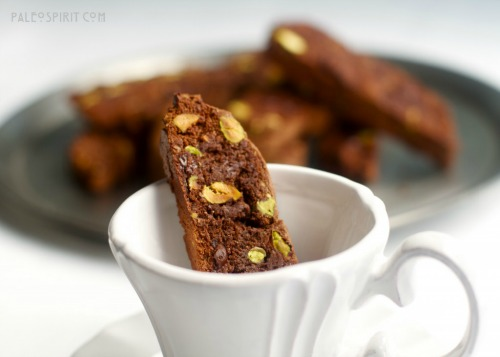 Gluten-Free Chocolate Pistachio Biscotti-in-a-Cup Paleo Spirit