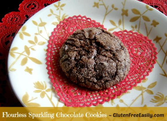 Gluten-Free Flourless Sparkling Chocolate Cookies Gluten Free Easily