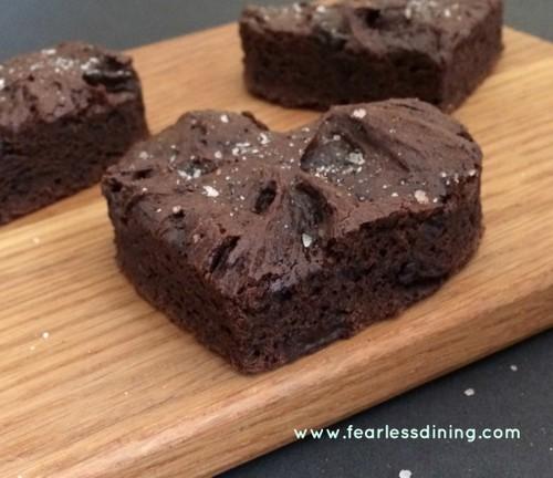 Gluten-Free Heart Brownies with Vanilla Salt Fearless Dining
