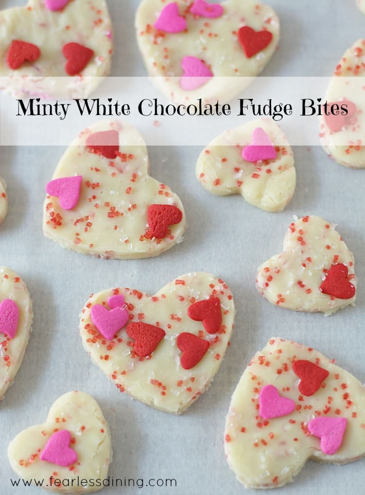 Get the kids to help when you cut out your Minty White Chocolate Hearts for Valentine's Day!