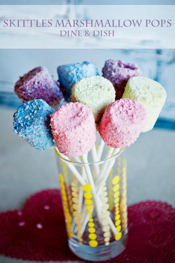 Gluten-Free Skittles Marshmallow Pops Dine and Dish