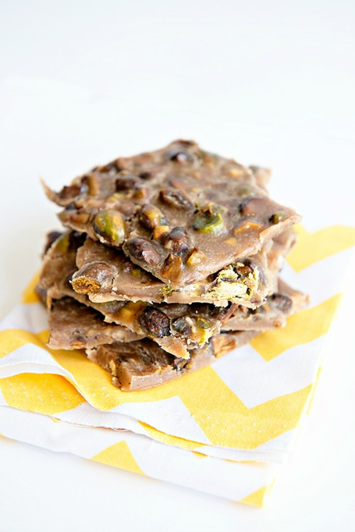 Gluten-Free Toasted Pistachio Toffee Brittle Dine and Dish