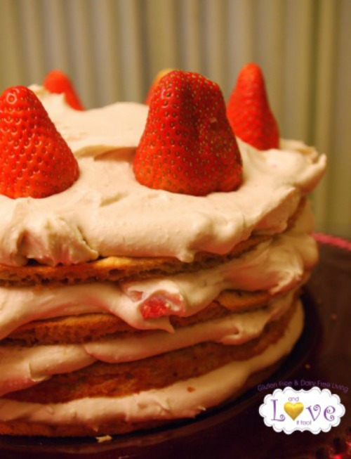 Gluten Free Whipped Coconut Strawberry Cake And Love It, Too!