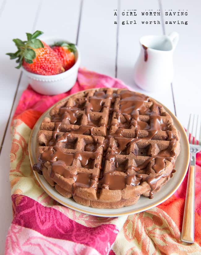 The question is will you eat these Paleo Chocolate Waffles for a meal or dessert?