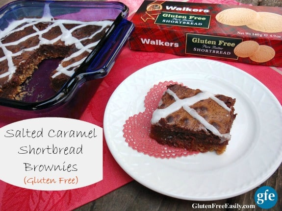 Gluten-Free Caramel Shortbread Brownies Gluten Free Easily Walkers Shortbread