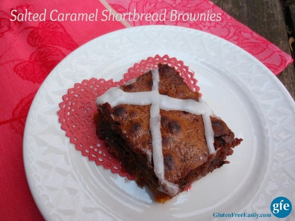 Salted Caramel Shortbread Brownies Gluten Free Easily