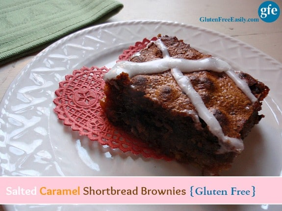 Single Gluten-Free Salted Caramel Shortbread Brownie Gluten Free Easily