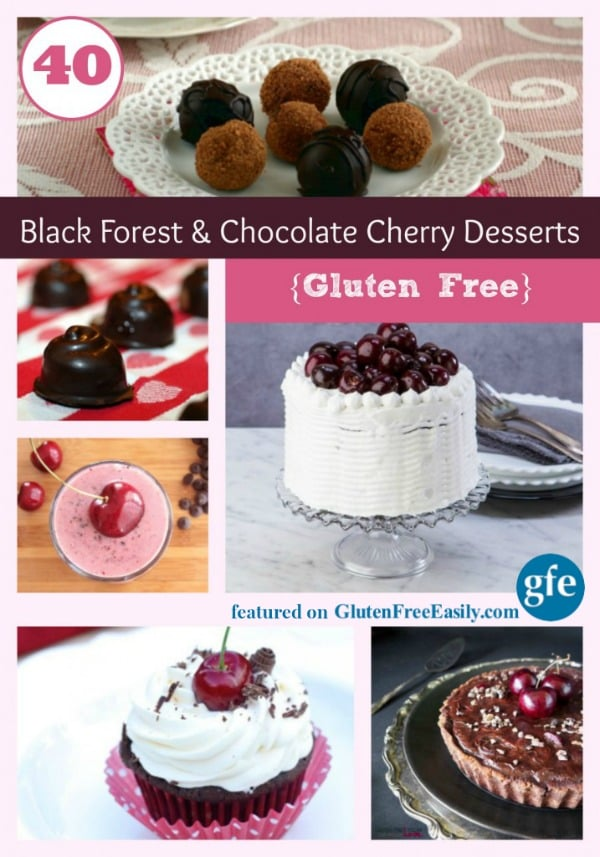 Love the chocolate cherry combination? Then you'll really love these Gluten-Free Black Forest Desserts! There are over 40!