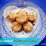 This Banana Coconut Breakfast Cookie recipe is super simple and easy to make, uses ingredients that are naturally gluten free, and produces results that are delicious, of course. [from GlutenFreeEasily.com] (photo)