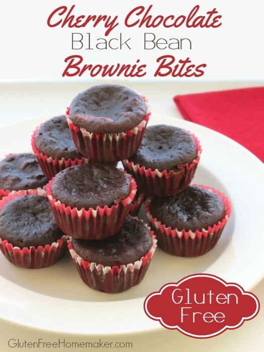 Gluten-Free Cherry Chocolate Black Bean Brownie Bites The Gluten-Free Homemaker