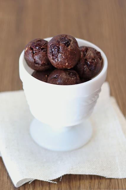 Gluten-Free Dark Chocolate Cherry Cookie Dough Bites Sarah Bakes Gluten-Free Treats