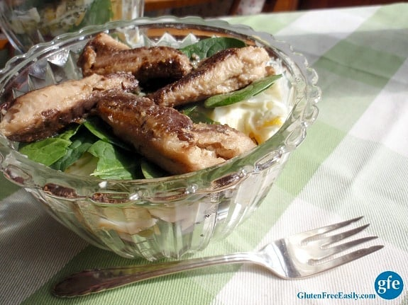 Dig Deep Seven-Layer Salad Season Sardines Gluten Free Easily