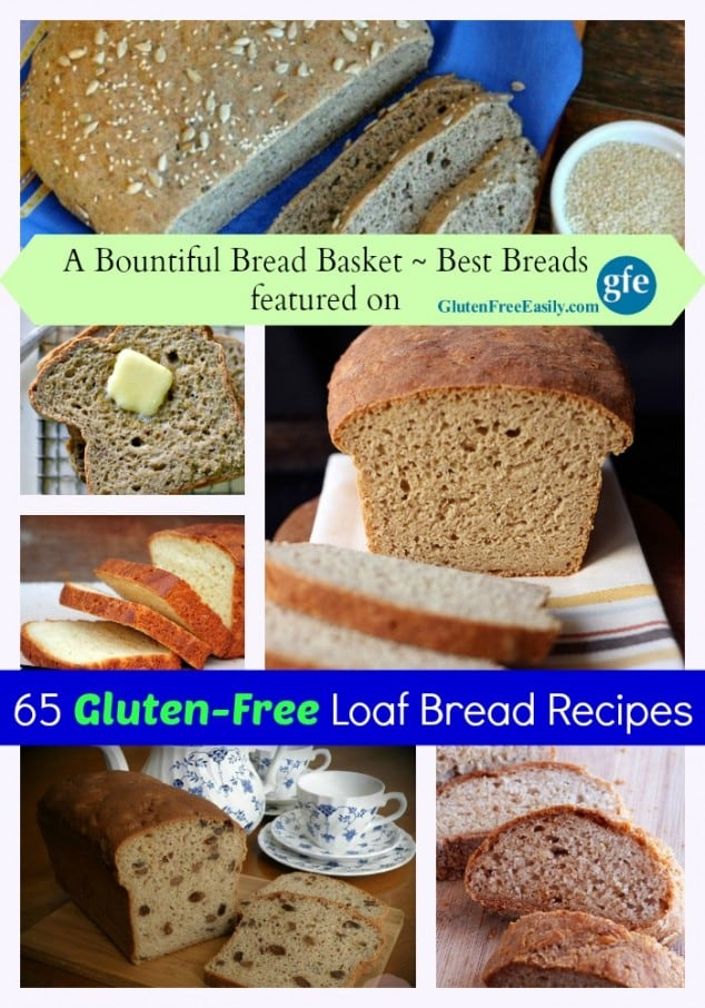 """Wow! 65 More of the Best Gluten-Free Loaf Bread Recipes, whether you're """"just gluten free,"""" gluten free and dairy free, paleo, vegan, etc. (photo)"""