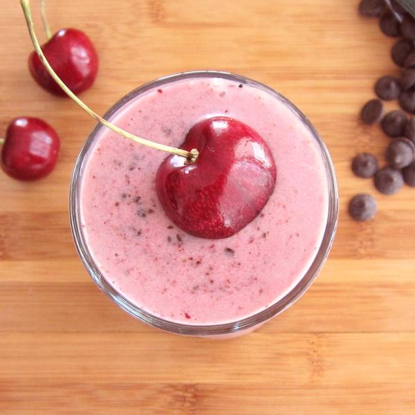 Gluten-Free Vegan Cherry Chocolate Chip Shake from Go Dairy Free