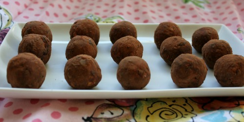 Gluten-Free Chocolate Cherry No-Bake Donut Holes In Johnna's Kitchen