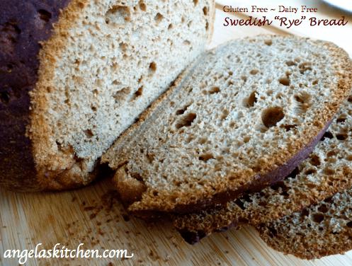 Gluten-Free Dairy-Free Swedish Rye Bread Angela's Kitchen
