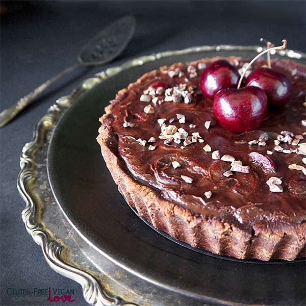Gluten-Free Paleo Vegan Dark Chocolate Cherry Tart Unconventional Baker