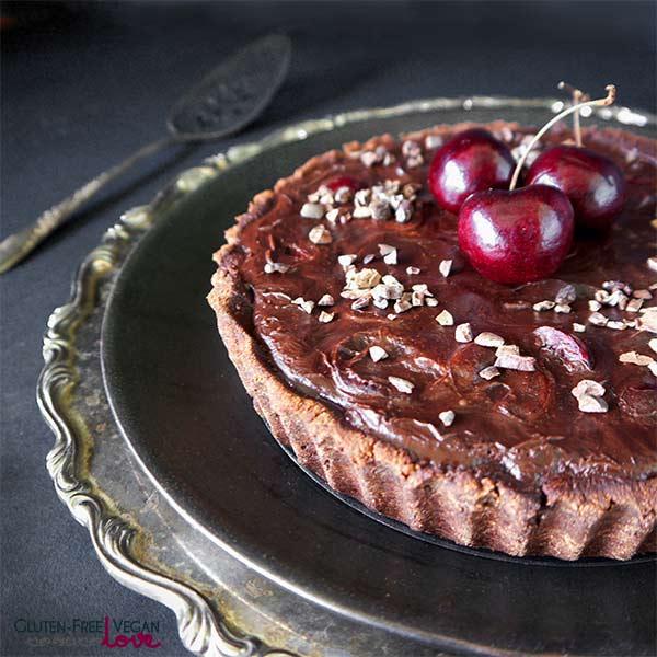 Gluten-Free Paleo Vegan Dark Chocolate Cherry Tart Unconventional Baker