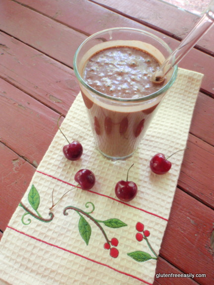 Gluten-Free Paleo Vegan Raw Chocolate Cherry Milkshake