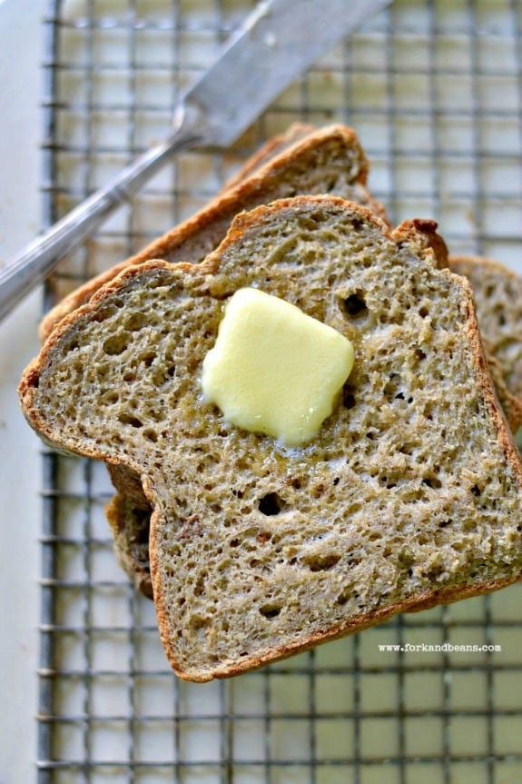 Gluten-Free Vegan Bread Fork and Beans