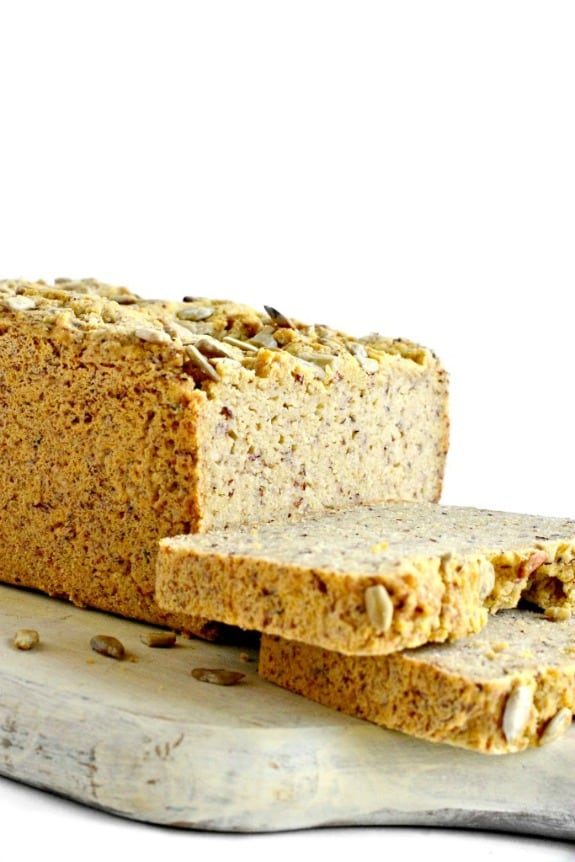 Grain-Free Yeast-Free Bread Fork and Beans