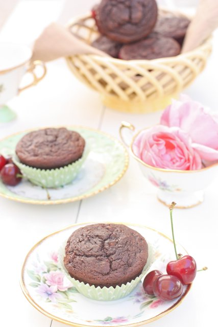 Gluten-Free Paleo Chocolate Cherry Muffins Against All Grain