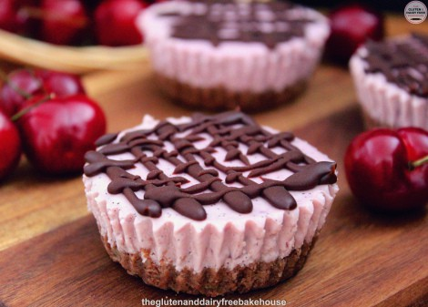 Gluten-Free Chocolate Cherry Cheesecake Bites