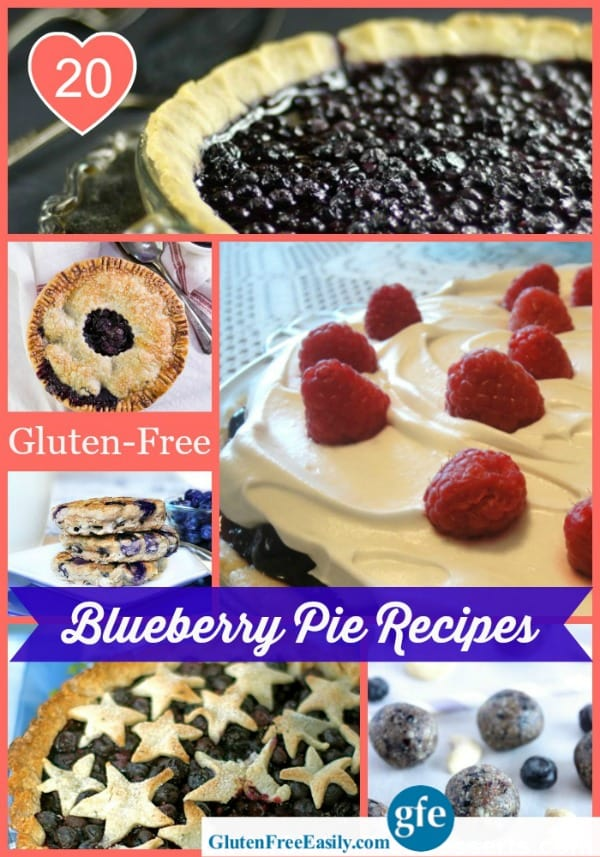 20 Gluten-Free Blueberry Pie Recipes that will make you so happy that blueberries are available year round now! If you can make a pie using blueberries you picked yourself, your blueberry pie will taste even sweeter!