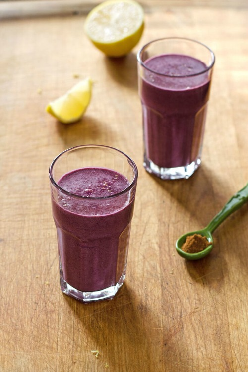 Gluten-Free Blueberry Pie Smoothie