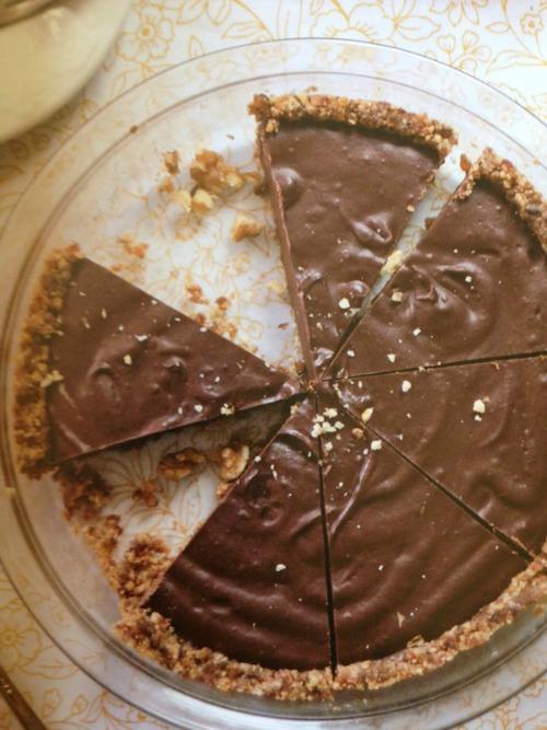 Gluten-Free Paleo Chocolate Pie with Raw Graham Cracker Crust