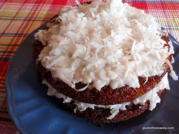 Gluten-Free Pineapple Layer Cake with Maple Coconut Whipped Cream Frosting