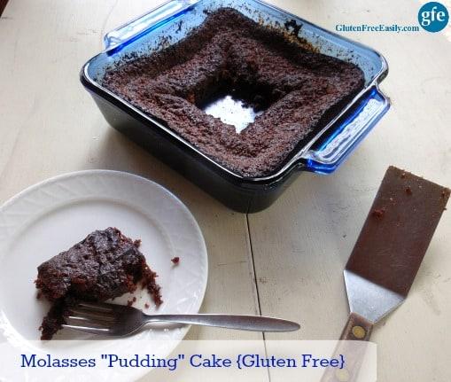 Molasses Pudding Cake Gluten Free Dairy Free Refined Sugar Free