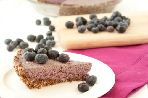 Gluten-Free No-Bake Blueberry Cream Pie Paleo Vegan