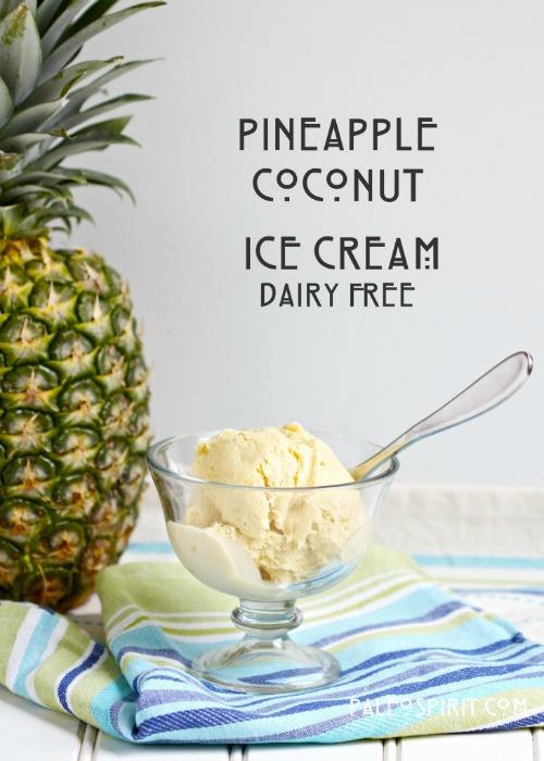 Gluten-Free Paleo Pineapple Coconut Ice Cream