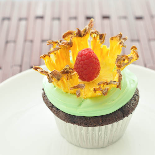 Gluten-Free Pineapple Flower Cupcakes
