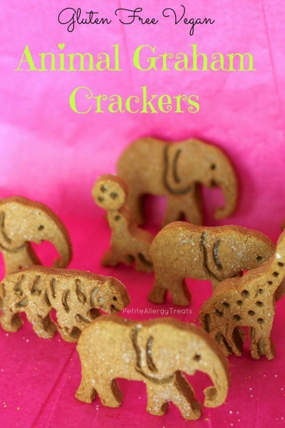 What's better than homemade animal crackers? Animal Graham Crackers! Gluten free and vegan from Petite Allergy Treats.
