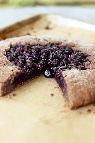 Gluten Free Vegan Blueberry Rosemary Multigrain Galette