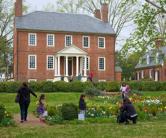 Kenmore Plantation Fredericksburg Virginia View Facing Gardens and River