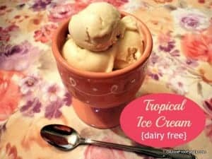 Tropical Ice Cream Dairy-Free Paleo