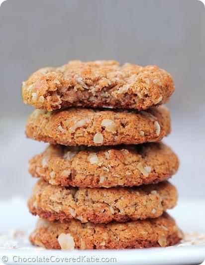 Gluten-Free Almond Butter Oatmeal Cookies
