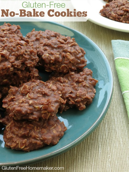Gluten-Free No-Bake Chocolate Oatmeal Cookies