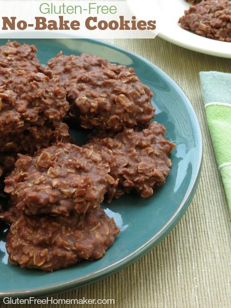 Gluten-Free No-Bake Chocolate Oatmeal Cookies